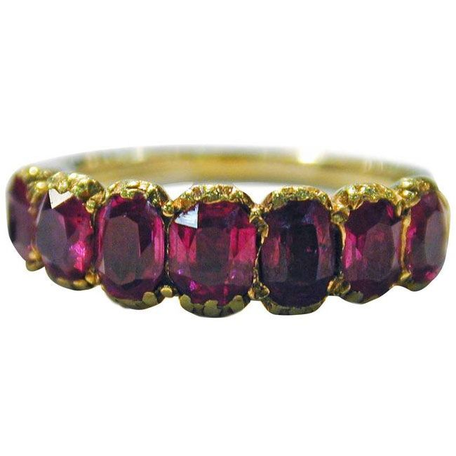 georgian burmese ruby ring