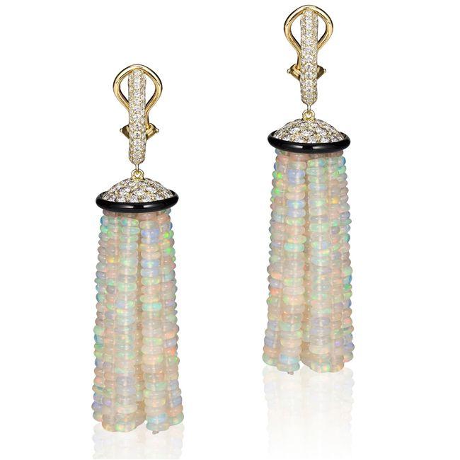 Goshwara Tassel Opal Earrings
