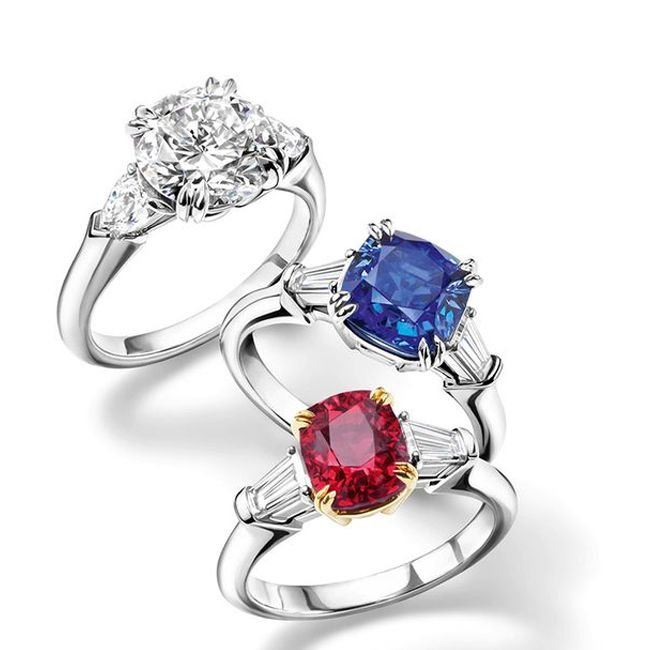 harry winston ruby sapphire engagement ring