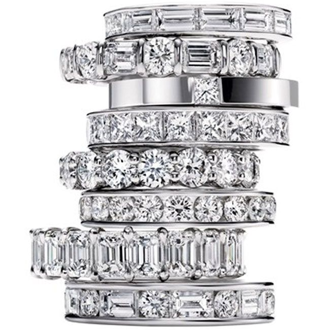harry winston stackable rings