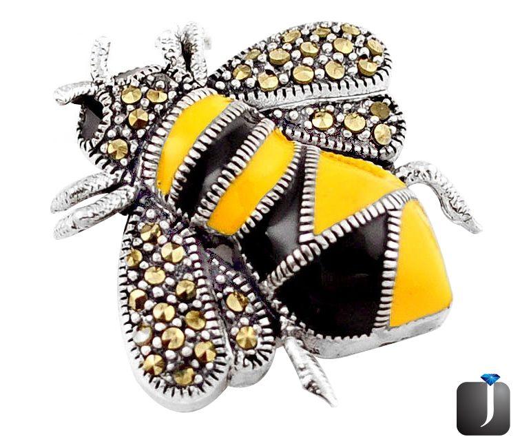 honey bee pendant ring