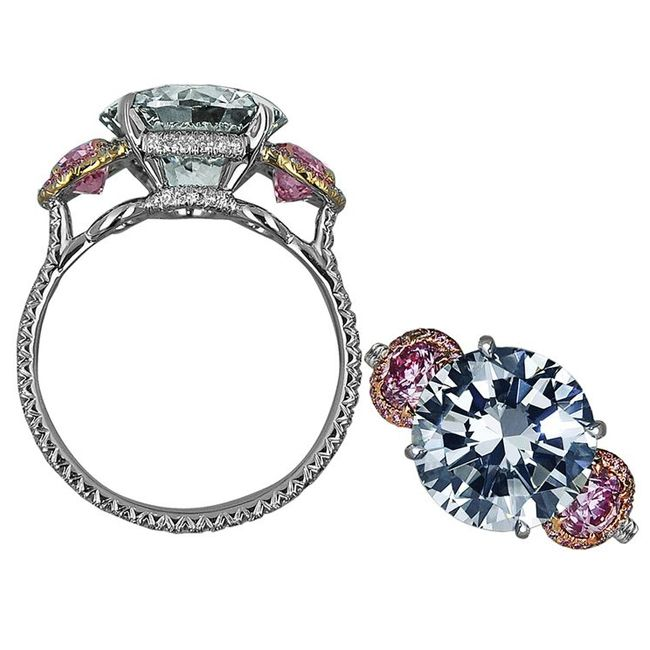 jacob and co. blue diamond ring