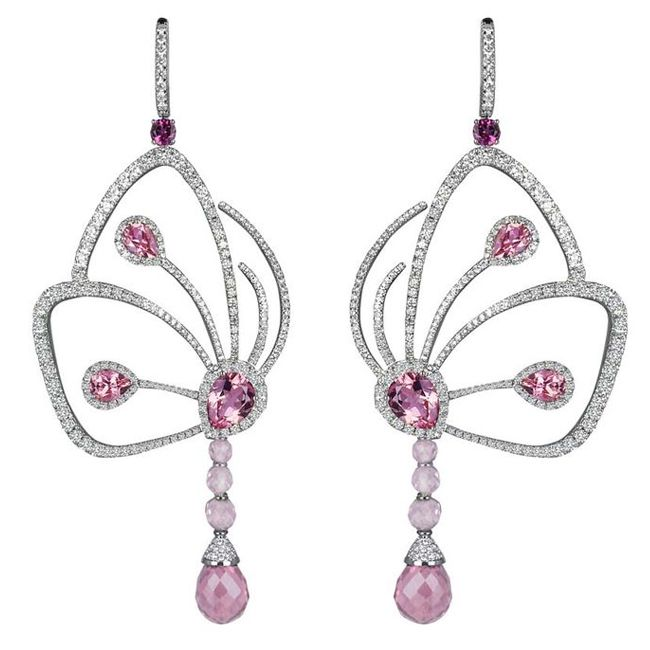 Jacob And Co Earrings With White And Pink Diamonds