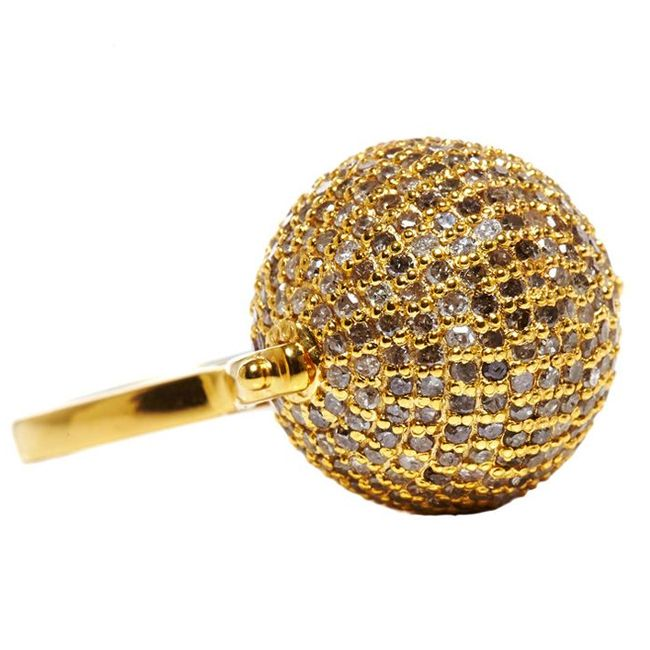 Jade JAgger Disco Ball Ring
