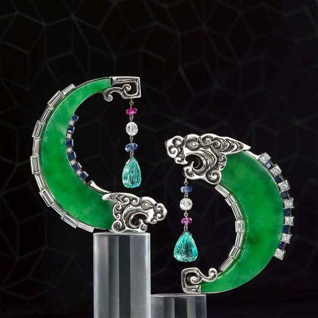 jadeite dragon earrings