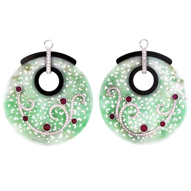 jaideite earrings