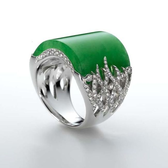 Jaideite Ring from Samuel Kungs Collection
