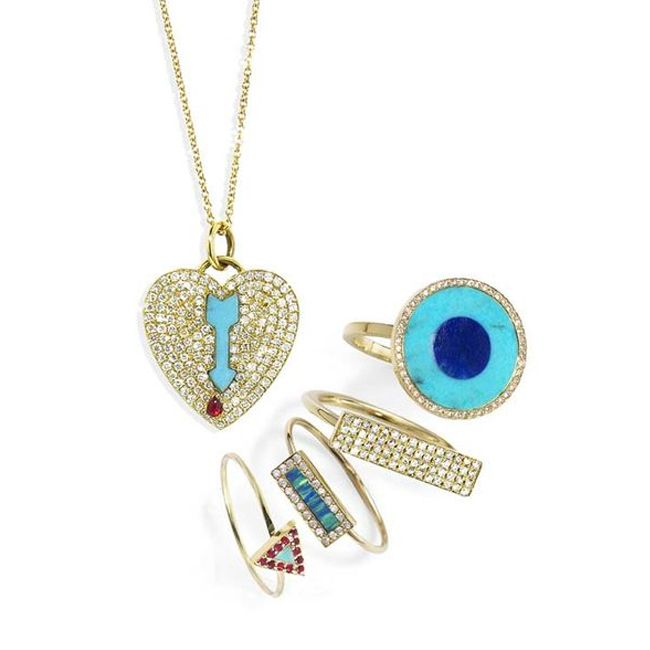 Jennifer Meyer Turquoise Ruby Diamond And Opal Jewelry