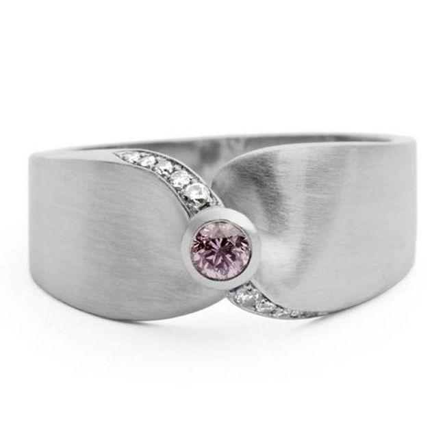jessica poole twist pink diamond engagement ring