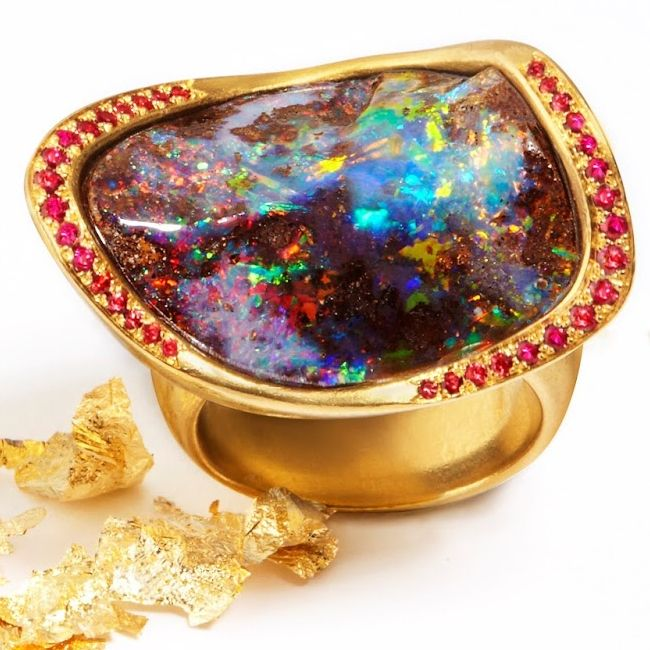 Katherine Jetter Marquise Opal Ring