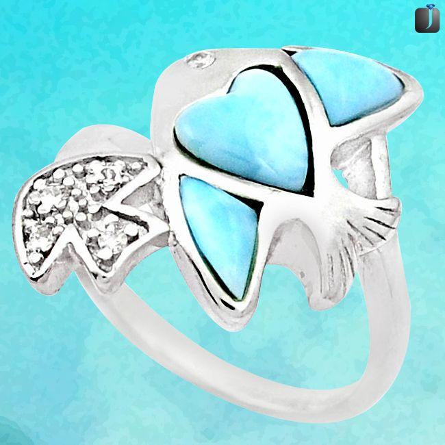 larimar baby fish ring