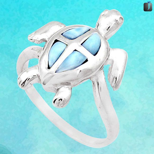 larimar tortoise ring