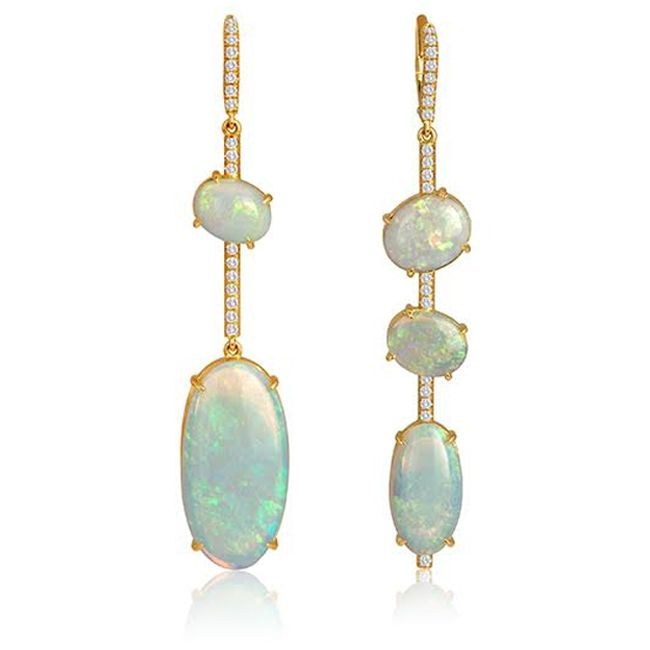 Opal jewelry designs spotted at the couture show 2015 gemexi lisa nik australian white opal earrings aloadofball Images
