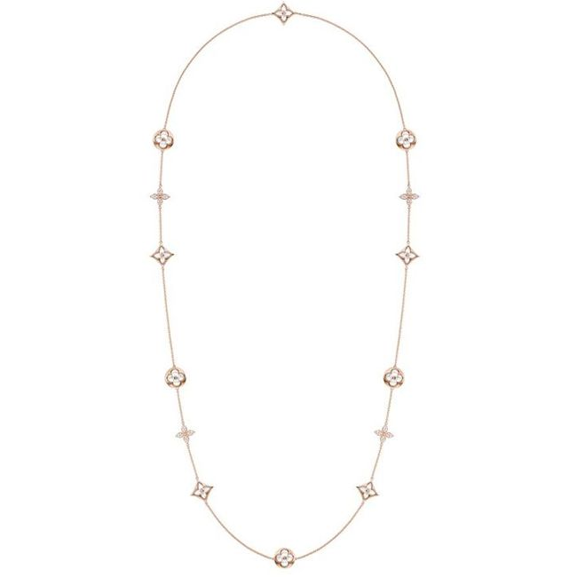 Louis Vuitton Monogram Sun and Star Mother of Pearl Necklace