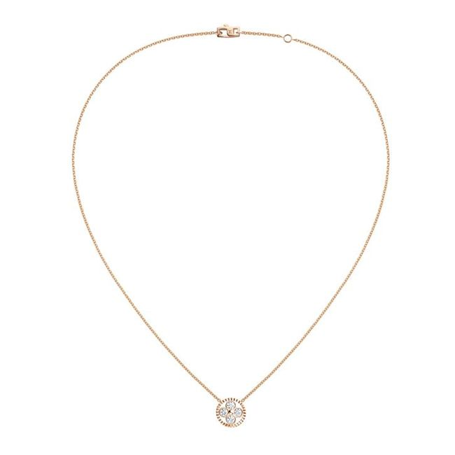 Louis Vuitton Monogram Sun Pendant Necklace in Rose Gold