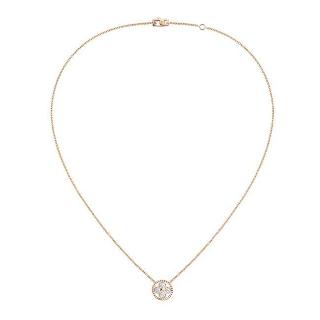 f535835eb76d Louis Vuitton Monogram Sun Pendant Necklace in Rose Gold
