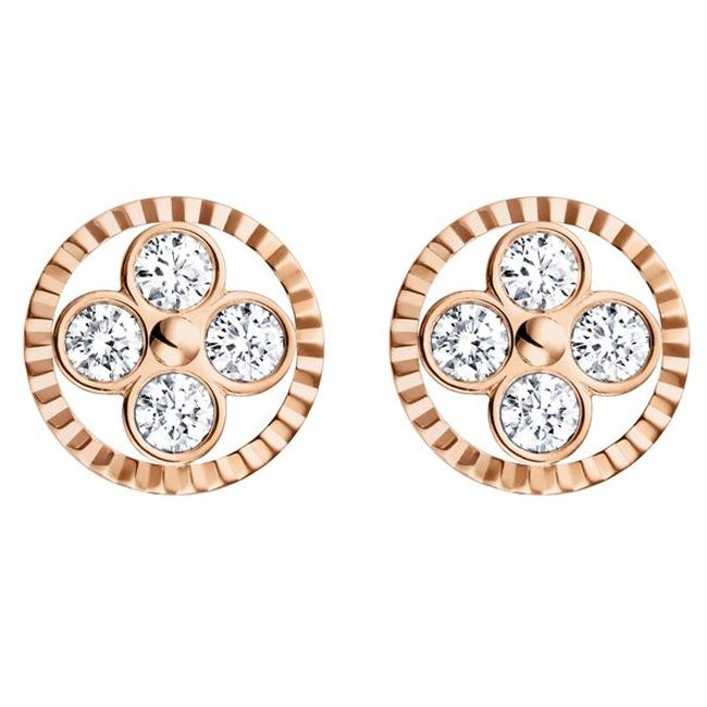 Louis Vuitton Monogram Sun Rose Gold Earrings