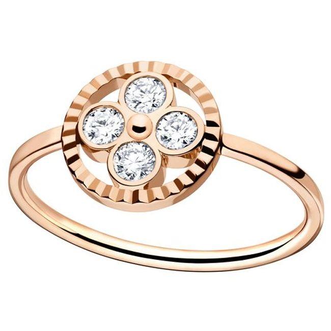 Louis Vuitton Monogram Sun Rose Gold Ring
