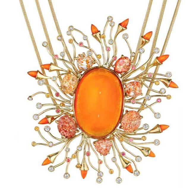 madstone fire opal pendant