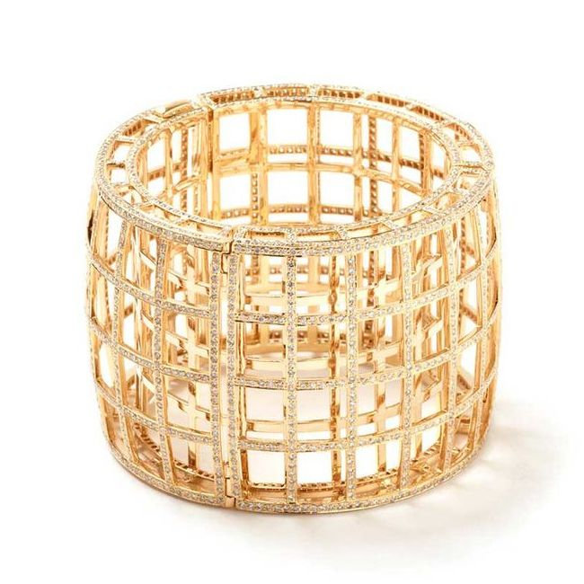 Maiyet Gold Diamond Cage Bracelet