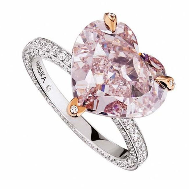 messika heart pink diamond engagement ring