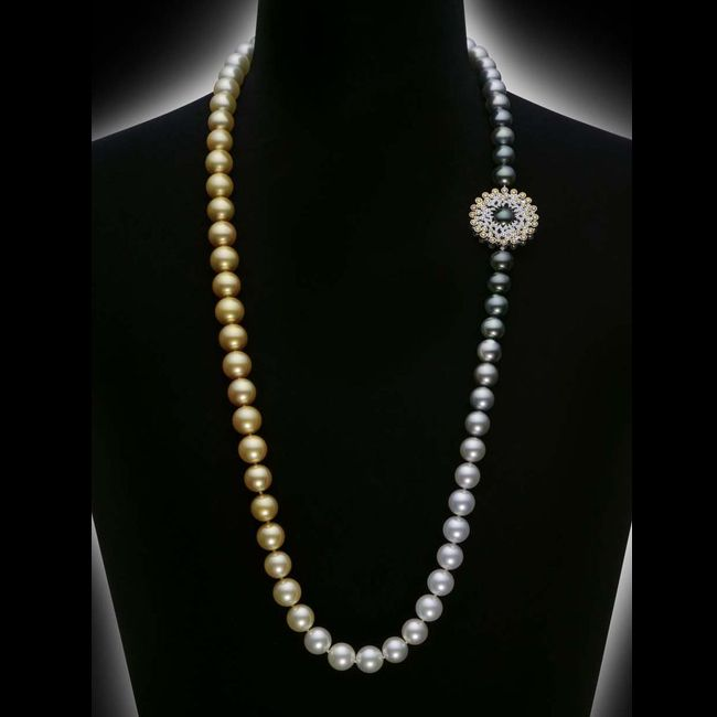 mikimoto sun and clouds pearl necklace