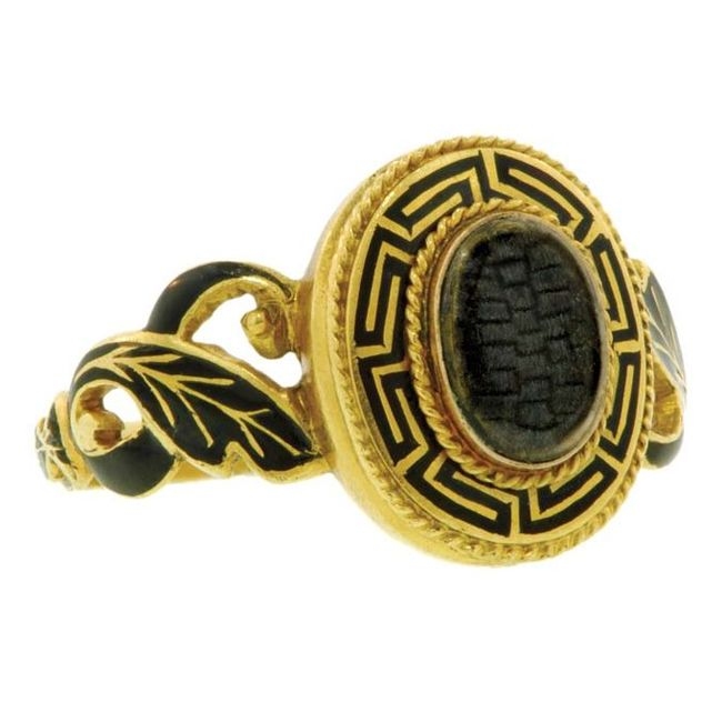 mourning ring gold black