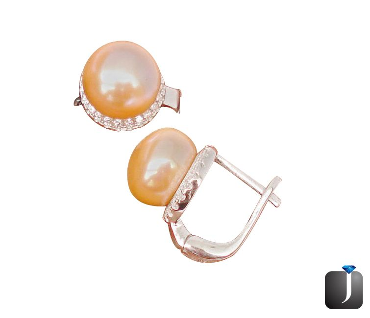 pearl topaz stud earrings
