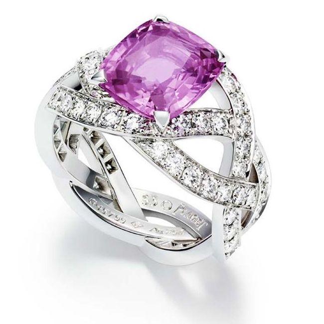 piaget pink sapphires engagement rings