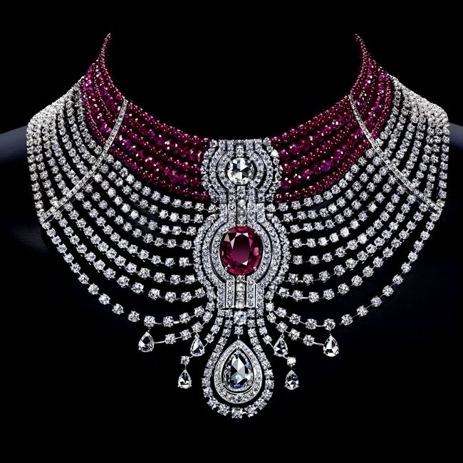 Reine Makeda Ruby Necklace in Choker Style