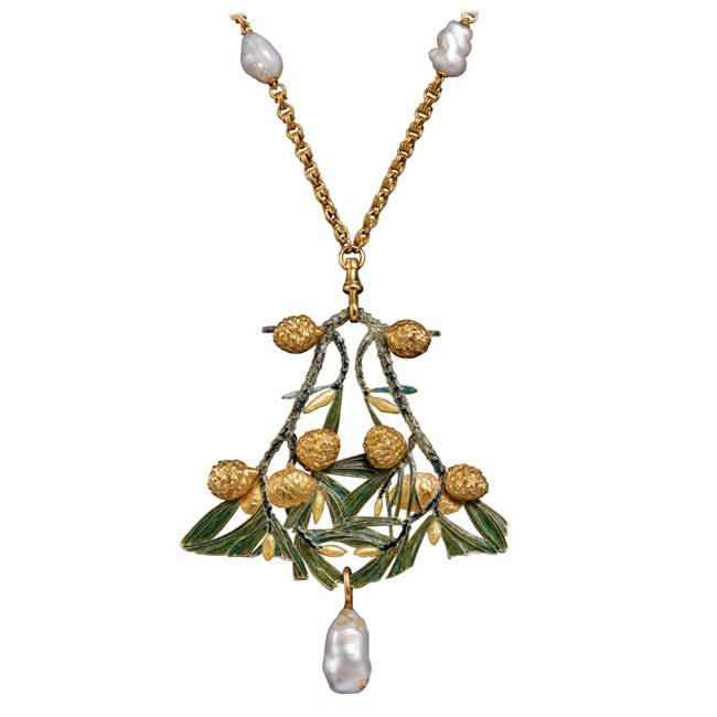 rene lalique pearl necklace