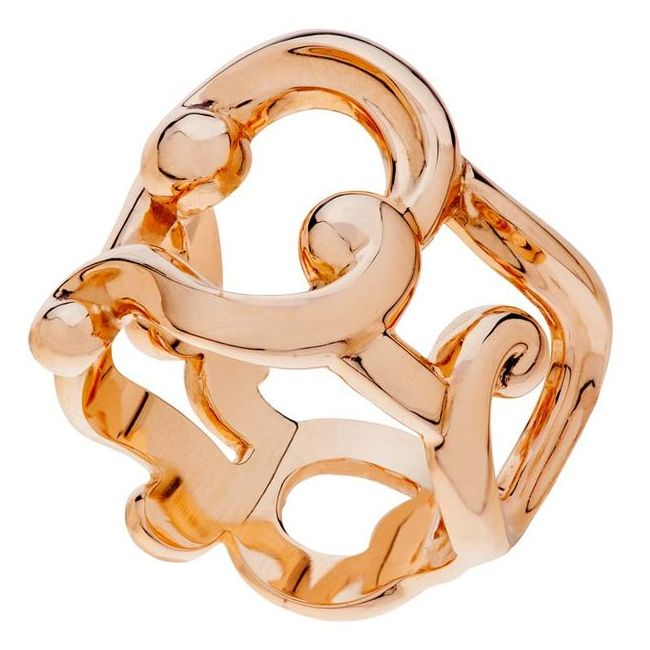 rose gold faberge ring from the rococo collection