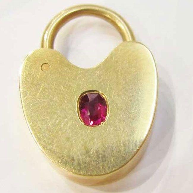 rose gold padlock