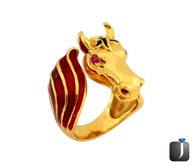 ruby quartz horse thai ring