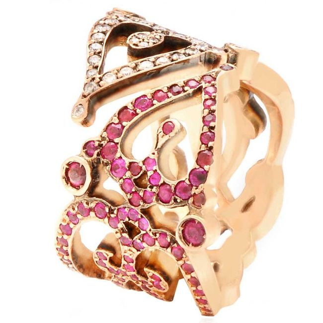 Sabine G Love Ring in Pink Gold