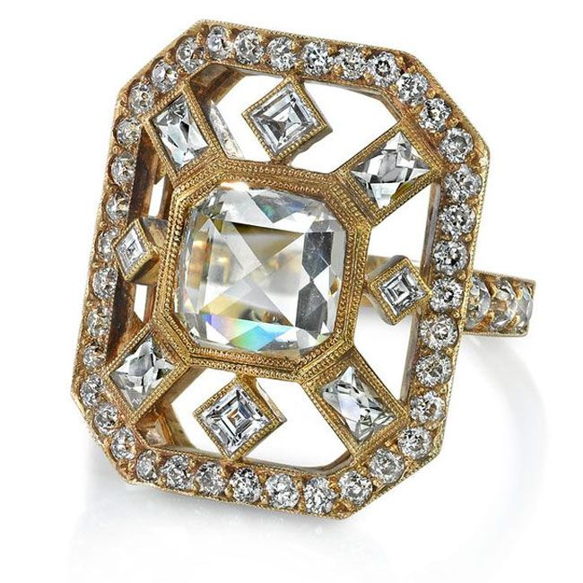 Single Stone Asscher Ring