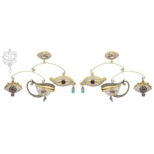Sylvie Corbelin Mobile Earrings