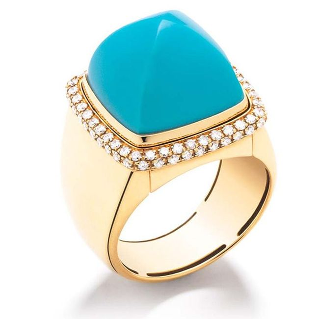 the fred pain de sucre gemstone cocktail ring with turquoise