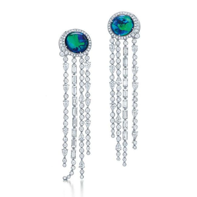 Tiffany Black Opal Earrings