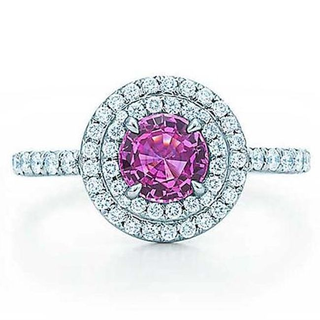 tiffany pink sapphires engagement rings