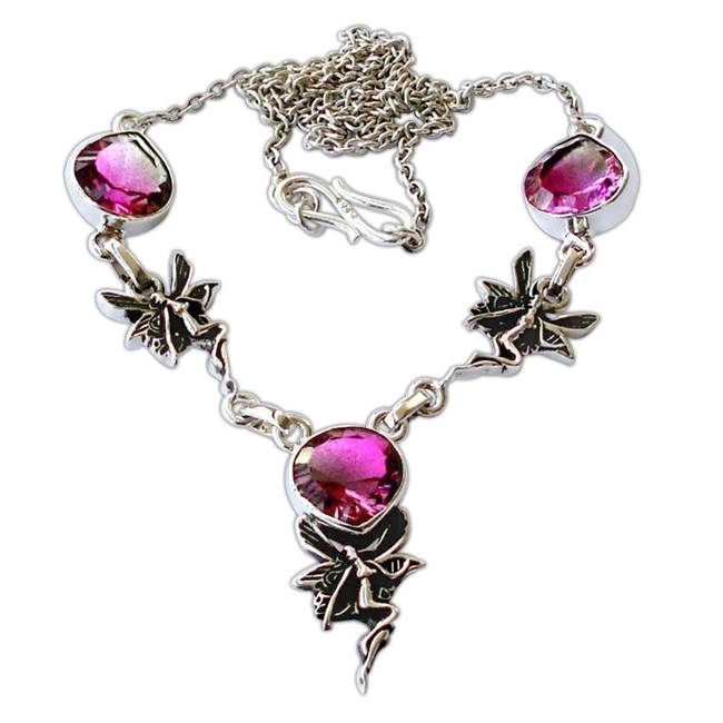 tourmaline seraph inspired statement necklace