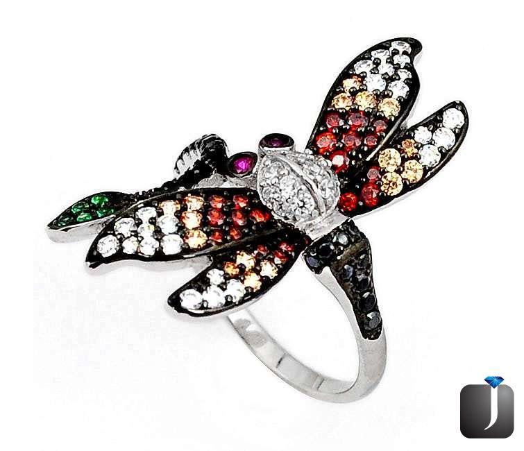 turquoise enamel butterfly pendant