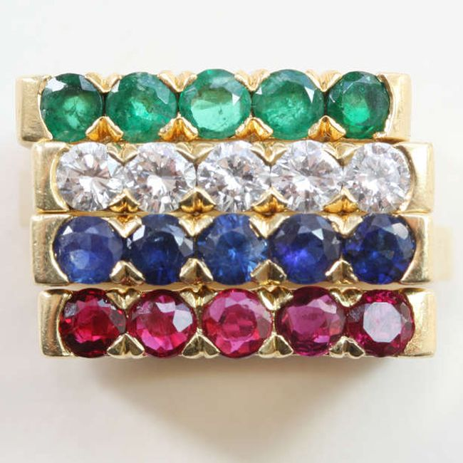 van cleef and arpels stackable ring