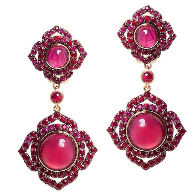 Vanessa Kandiyoti Ruby Earrings
