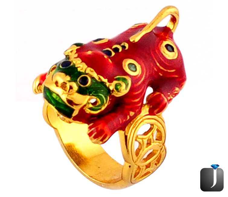 victorian lion emerald thai ring