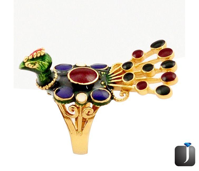 victorian ruby peacock thai ring
