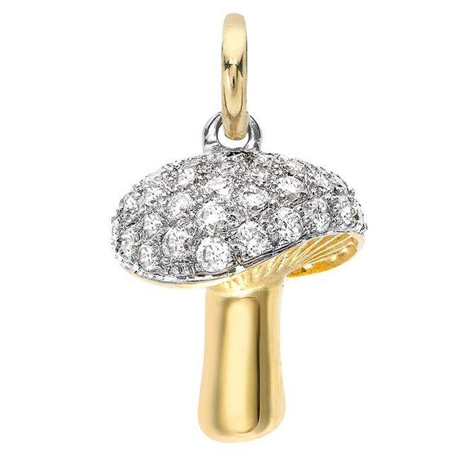 Yellow Gold Asprey Mushroom Charm