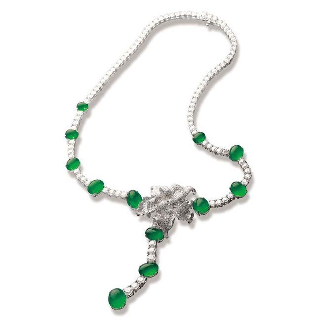 Zhaoyi Dancing Green Bird Necklace