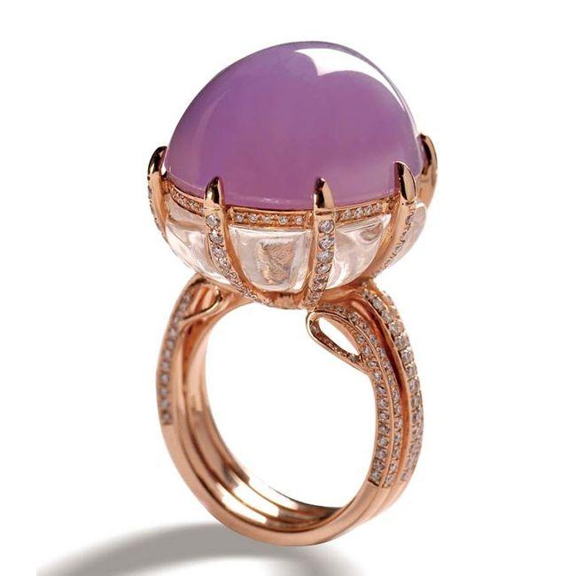 Zhaoyi Lavender Jade Ring