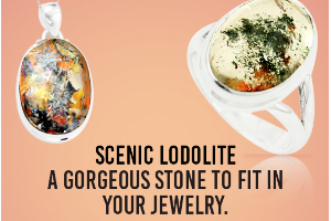 Scenic Lodolite - A gorgeous stone to fit in your jewelry.